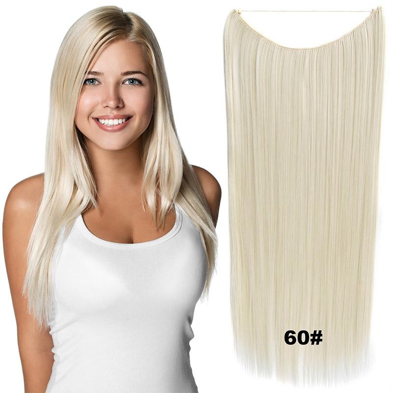 Flip in vlasy - 60 cm dlouhý pás vlasů - odstín 60