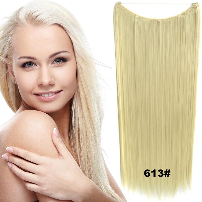Flip in vlasy - 60 cm dlouhý pás vlasů - odstín 613