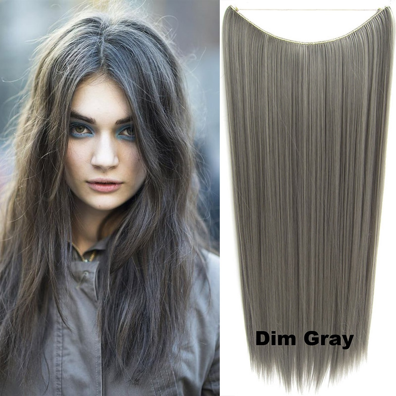 Flip in vlasy - 60 cm dlouhý pás vlasů - odstín Dim Gray