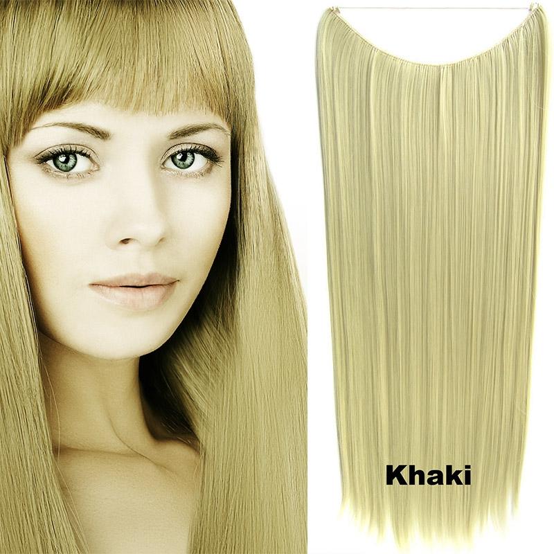 Flip in vlasy - 60 cm dlouhý pás vlasů - odstín Khaki