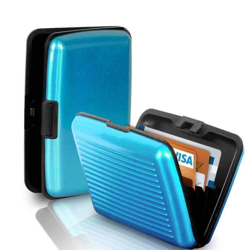 Pouzdro na doklady a peněženka Aluma Wallet - světle modrá barva