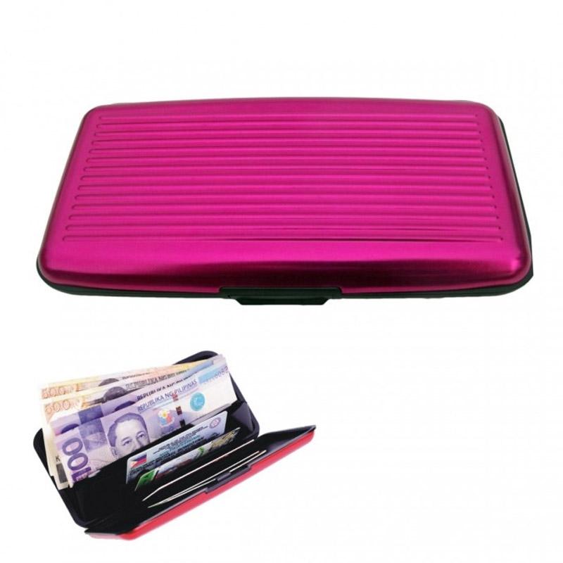 Velké pouzdro na doklady a platební karty Aluma Wallet - růžová barva