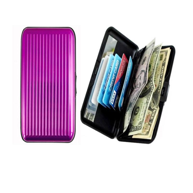 Velké pouzdro na doklady a platební karty Aluma Wallet - fialová barva
