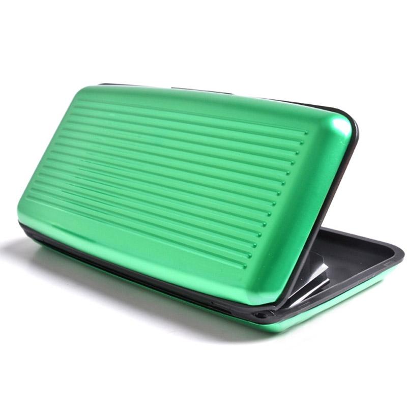Velké pouzdro na doklady a platební karty Aluma Wallet - zelená barva