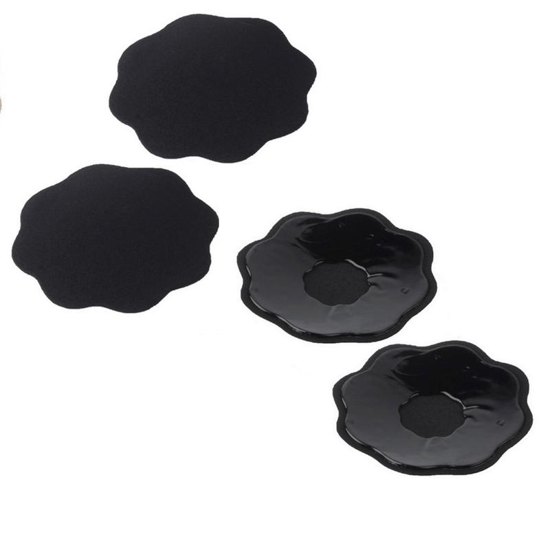 Velké samolepicí krytky bradavek - černá barva