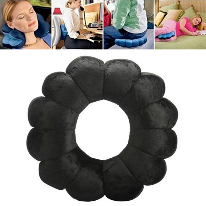 Multifunkční polštář Total Pillow - černá barva