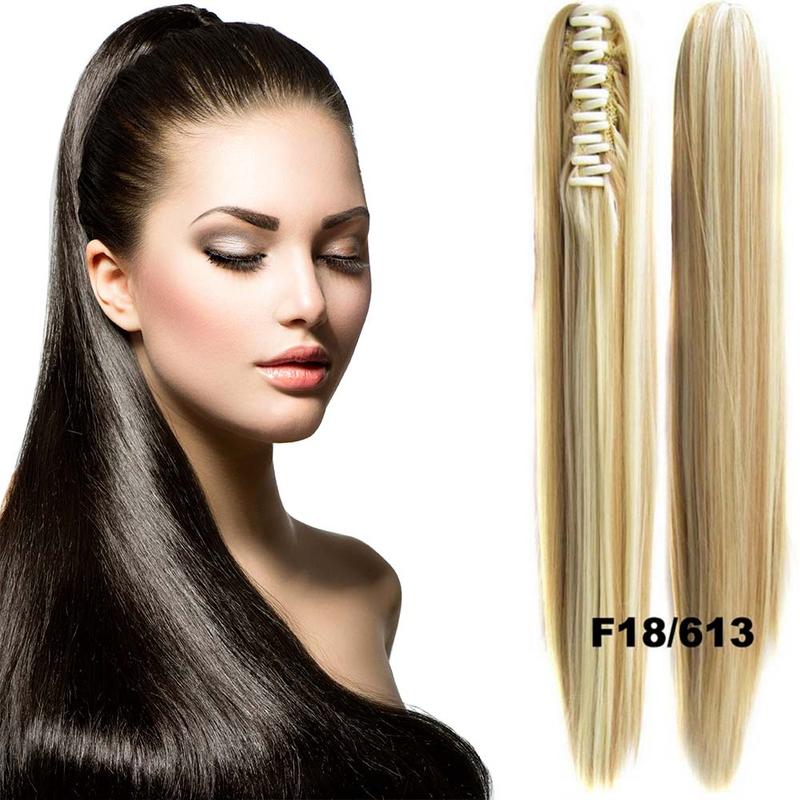 Cop - culík rovný k prodloužení vlasů 60 cm na skřipci - F27/613 (melír karamelové v beach blond)