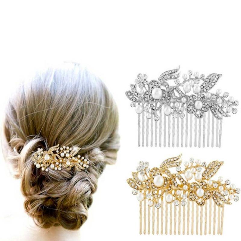 b7881373bab Prodlužování vlasů a účesy - Vlasová spona s perlami a zirkony ...