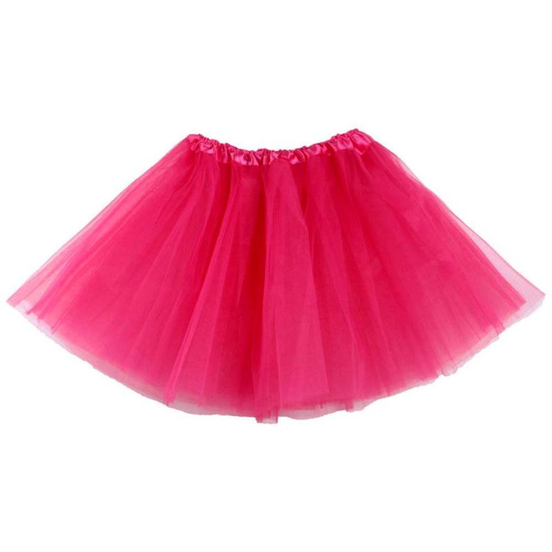 Dámská tylová tutu sukně - růžová barva