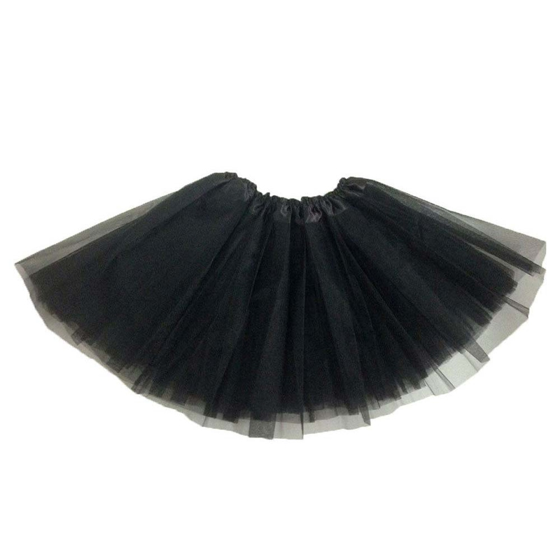 Dámská tylová tutu sukně - černá barva