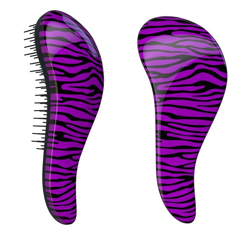 Dtangler rozčesávací kartáč na vlasy - Zebra Purple