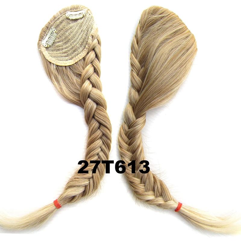 Clip in ofina s pleteným copánkem - odstín 27 T 613