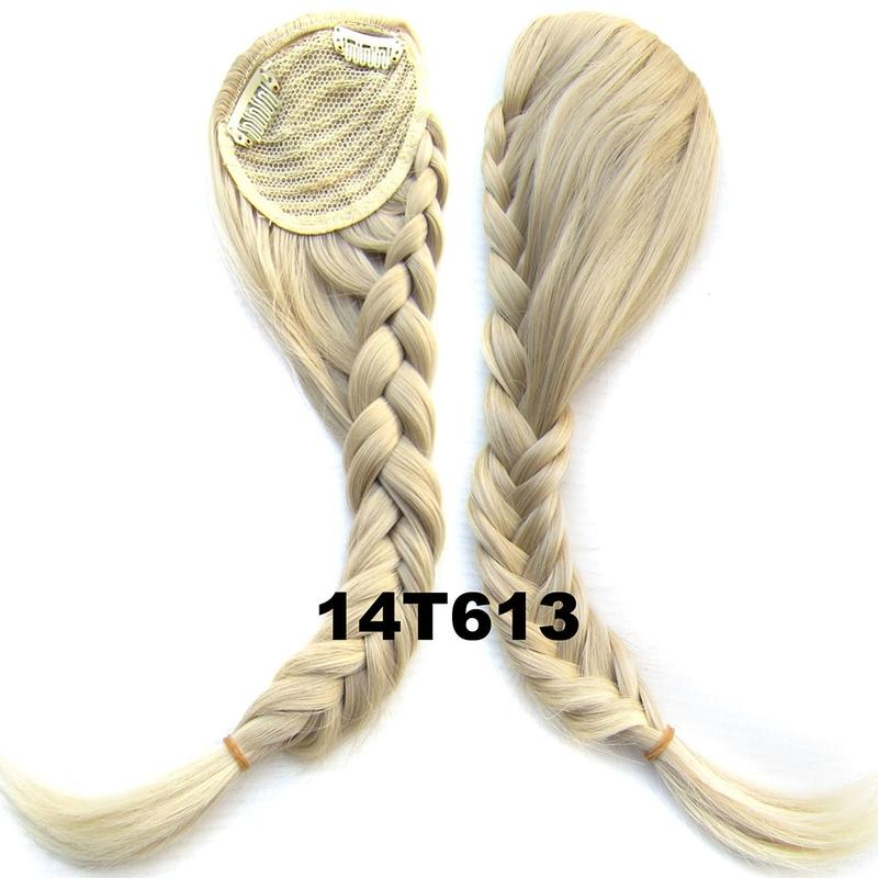 Clip in ofina s pleteným copánkem - odstín 14T613