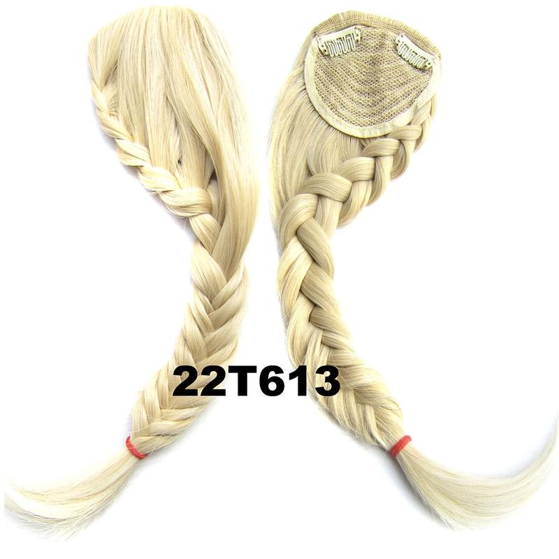 Clip in ofina s pleteným copánkem - odstín 22T613