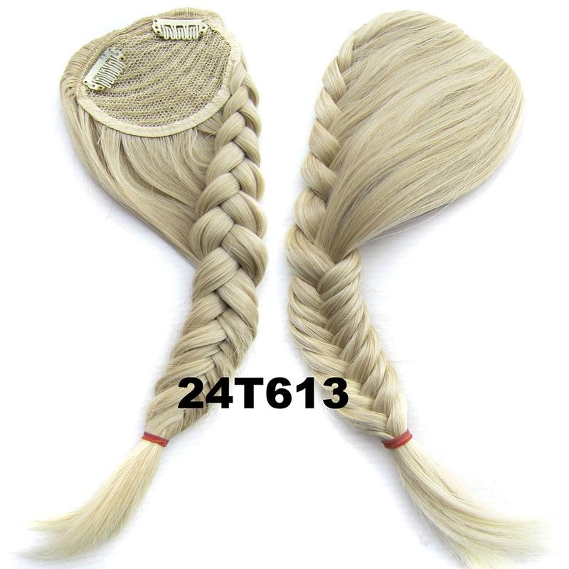 Clip in ofina s pleteným copánkem - odstín 24T613
