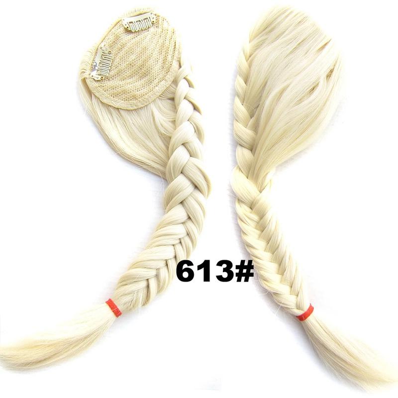 Clip in ofina s pleteným copánkem - 613 (beach blond)