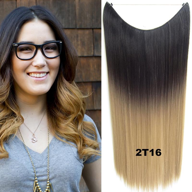 Flip in vlasy - 55 cm dlouhý pás vlasů - odstín 2 T 16
