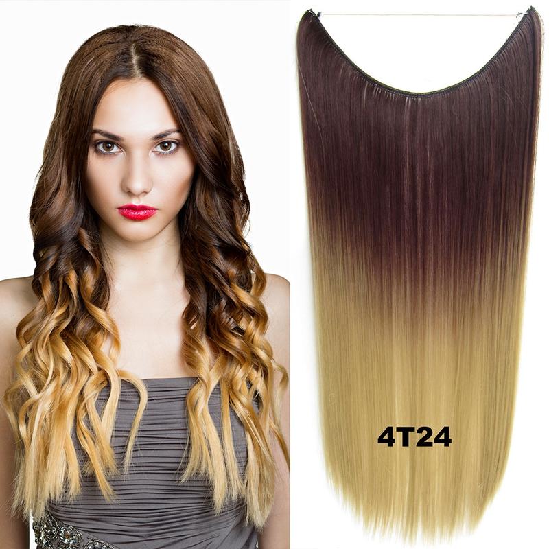 Flip in vlasy - 55 cm dlouhý pás vlasů - odstín 4 T 24