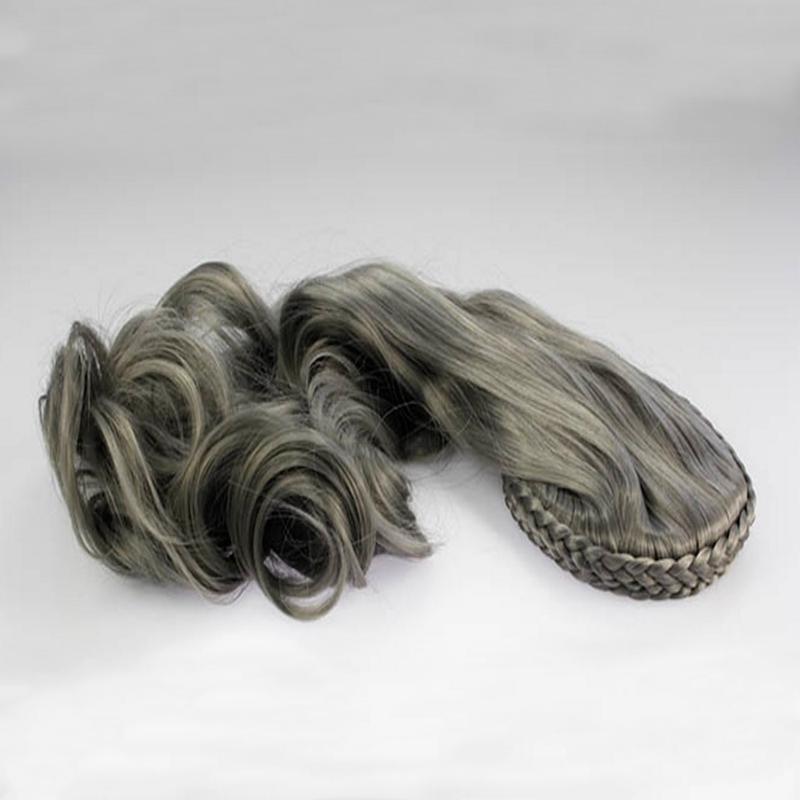 Poloparuka - 3/4 paruka s čelenkou z pletených vlasů - odstín GrayDim