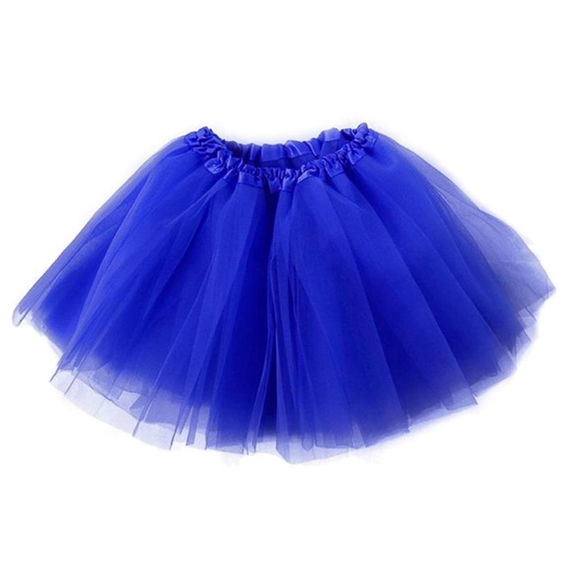 Dámská tylová tutu sukně - modrá barva
