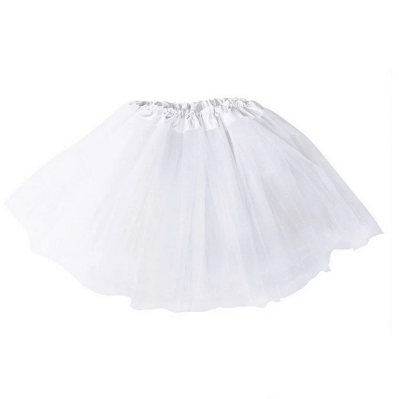 Dámská tylová tutu sukně - bílá barva
