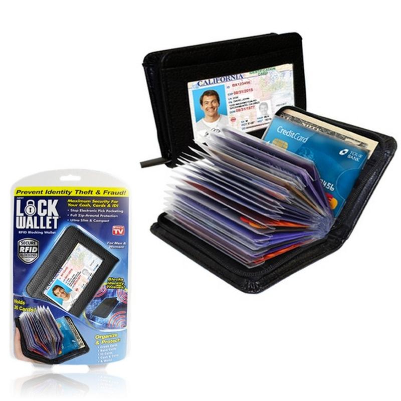 Pouzdro na doklady a platební karty imitace kůže