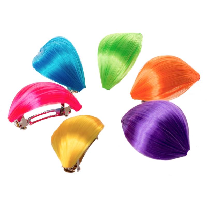 V&V Spona s vlasovým pramenem Reflex - fialová barva