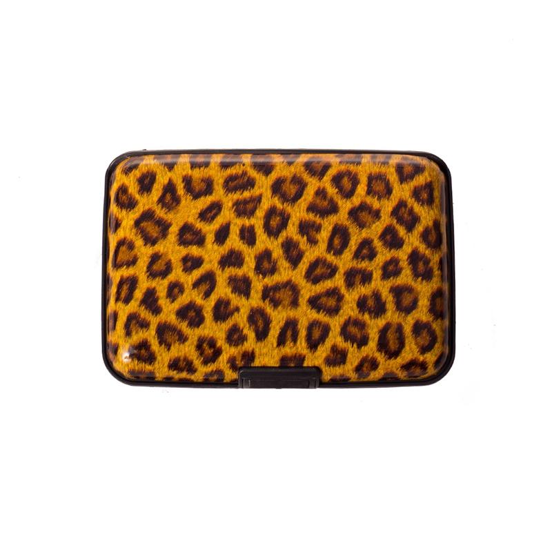Pouzdro na doklady a peněženka Aluma Wallet - hnědý levhart