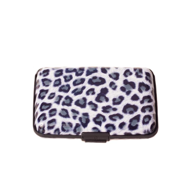 Pouzdro na doklady a peněženka Aluma Wallet - šedý levhart