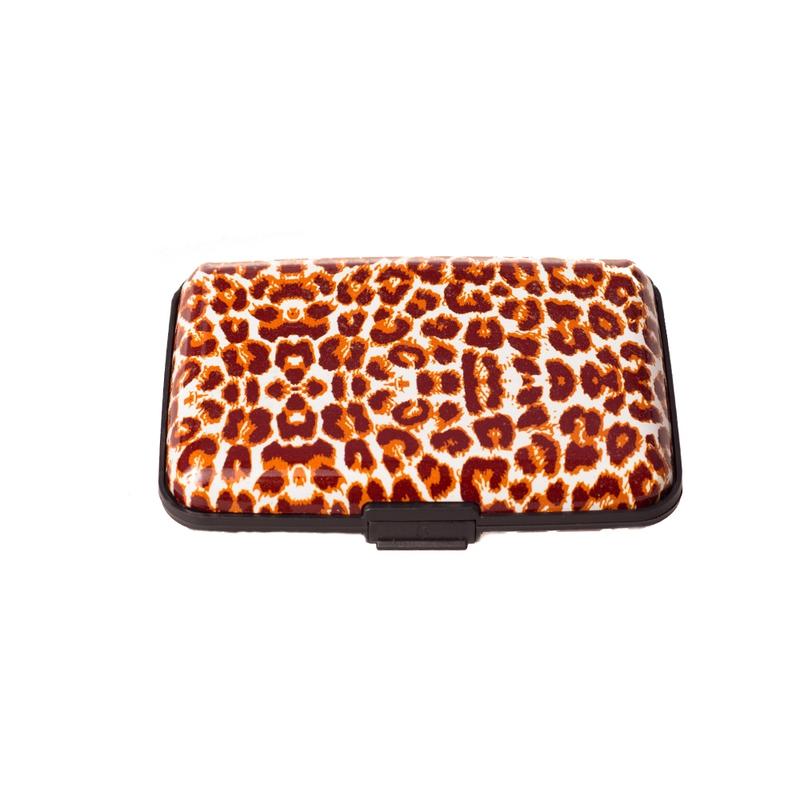 Pouzdro na doklady a peněženka Aluma Wallet - hnědý gepard