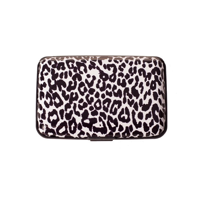 Pouzdro na doklady a peněženka Aluma Wallet - bílý gepard