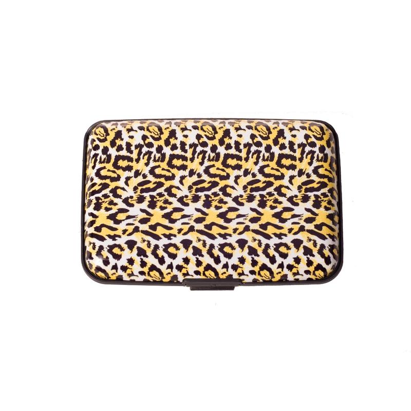 V&V Pouzdro na doklady a peněženka Aluma Wallet - žlutý gepard