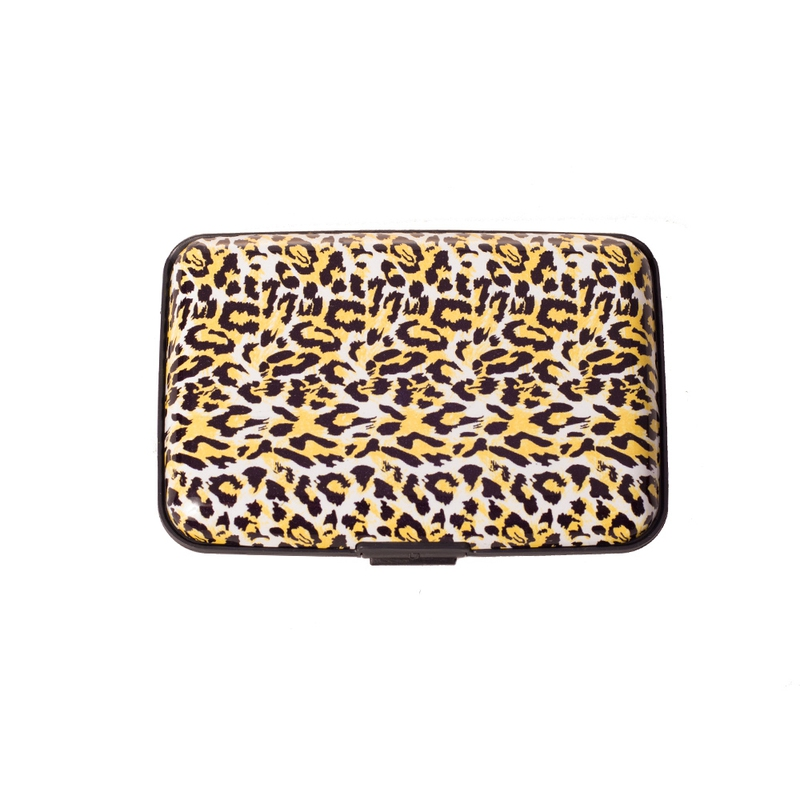 Pouzdro na doklady a peněženka Aluma Wallet - žlutý gepard