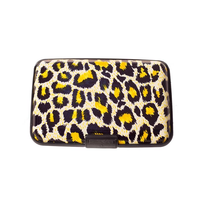 Pouzdro na doklady a peněženka Aluma Wallet - žlutý leopard