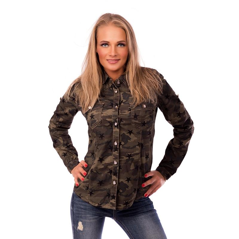 a9ec841bce3 Dámská móda a doplňky - Dámská košile US Army styl ...