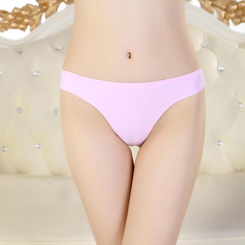 V&V Dámské kalhotky - tanga - laserové - růžové
