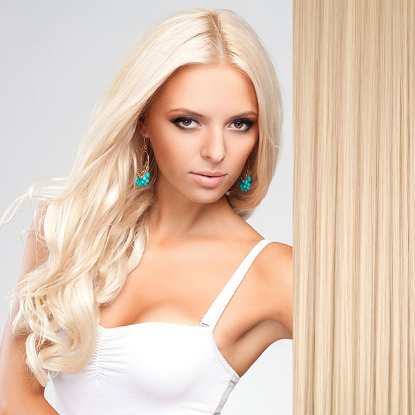 Clip in vlasy - sada DE-LUXE, 57 cm, odstín 613 - blond - 613 (beach blond)