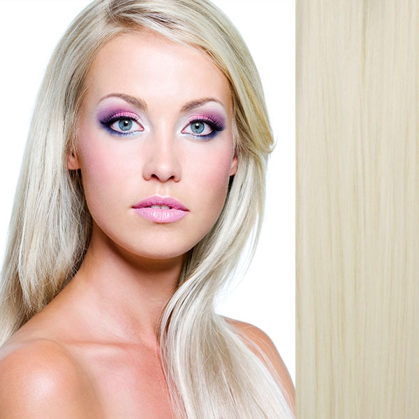 Clip in vlasy - sada DE-LUXE, 57 cm, odstín - 61 (chladná blond)