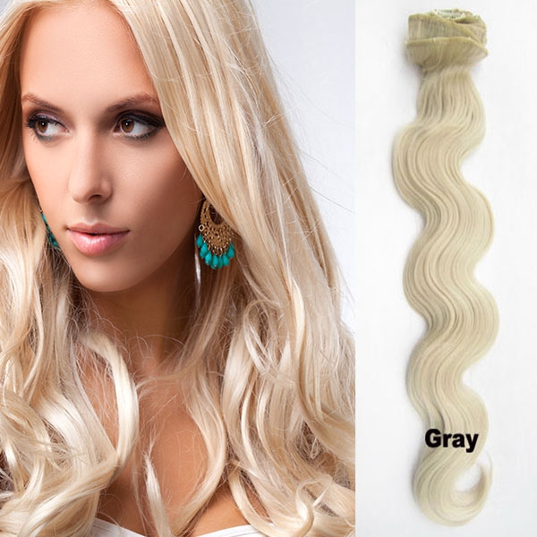 Clip in sada DE-LUXE, vlnitá, odstín - 61 (chladná blond)