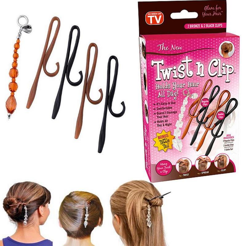 Prodlužování vlasů a účesy - Spony do vlasů Twist n Clip ... 51dc0a35bb