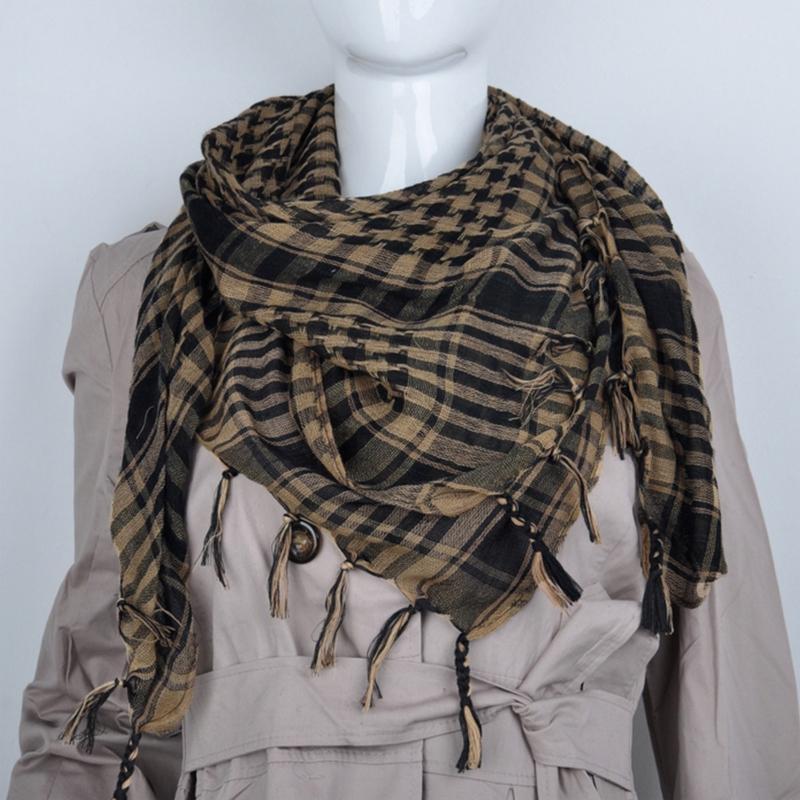 V&V Dámský šátek Shemagh - Palestina - černá khaki