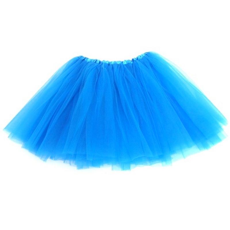 Dámská tylová tutu sukně - světle modrá barva