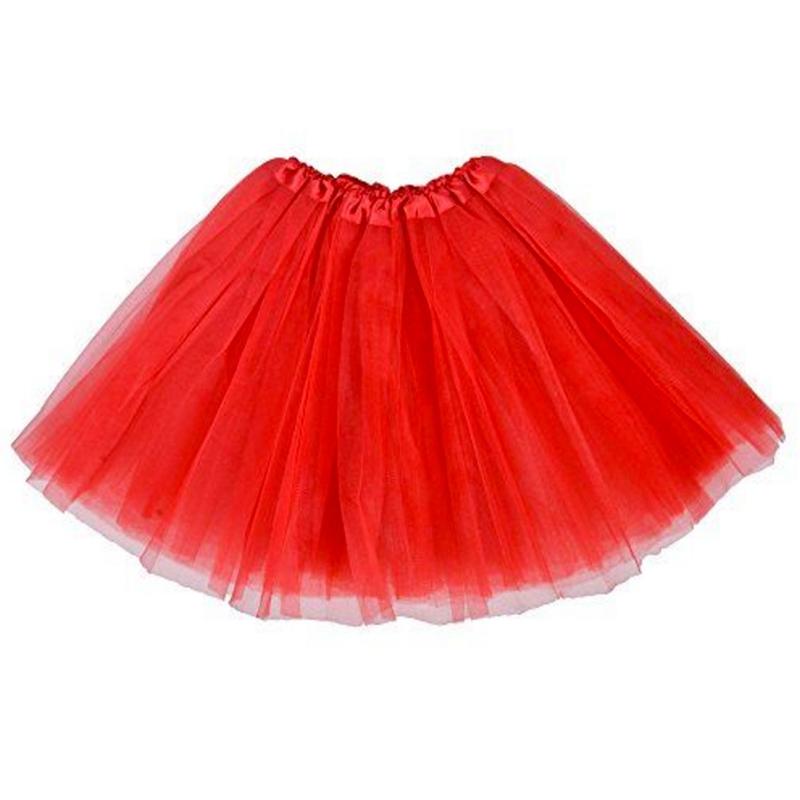 Dámská tylová tutu sukně - červená barva