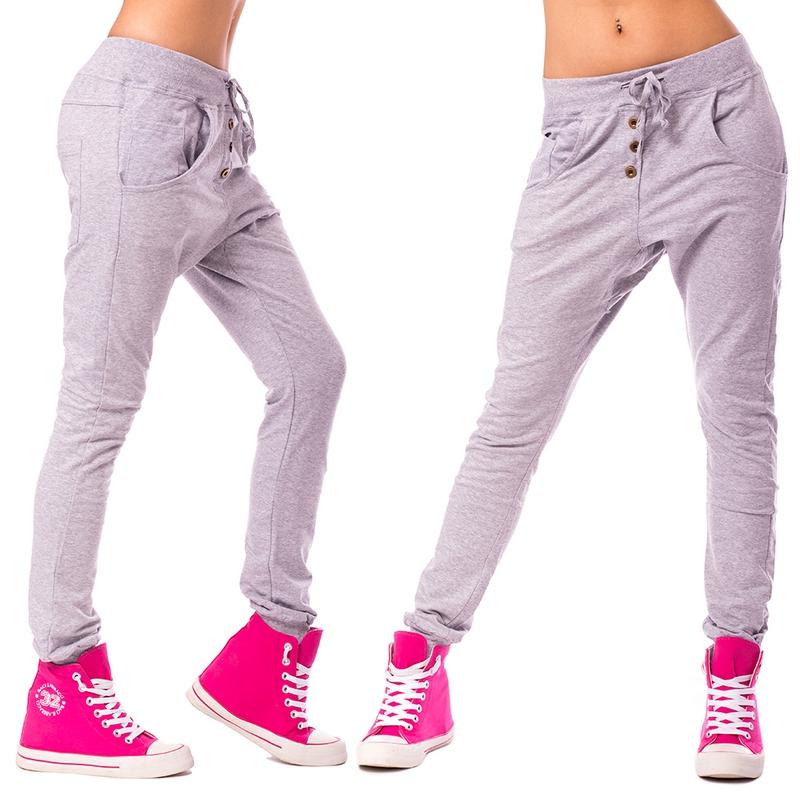 Dámské harémové kalhoty - světle šedé - velikost S M