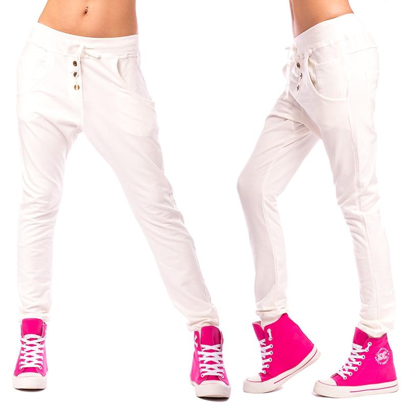 Dámské harémové kalhoty - smetanové - velikost L XL