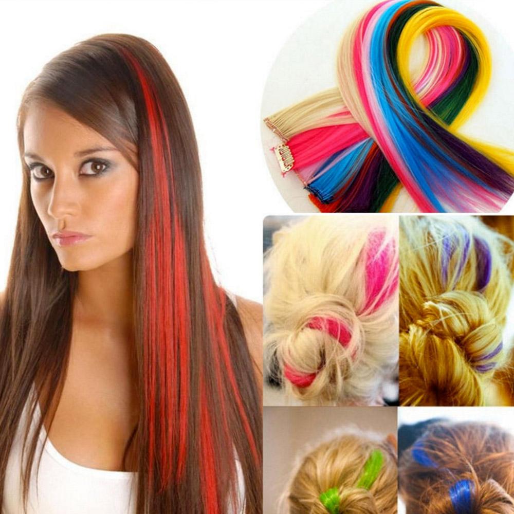 Sada barevných clip in pásků - 7 ks