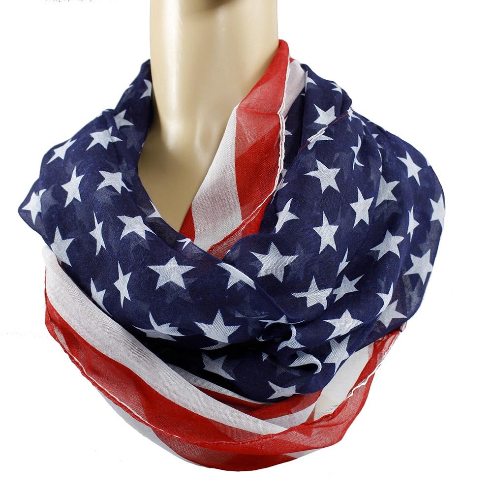 Šátek - šál - tunel americká vlajka