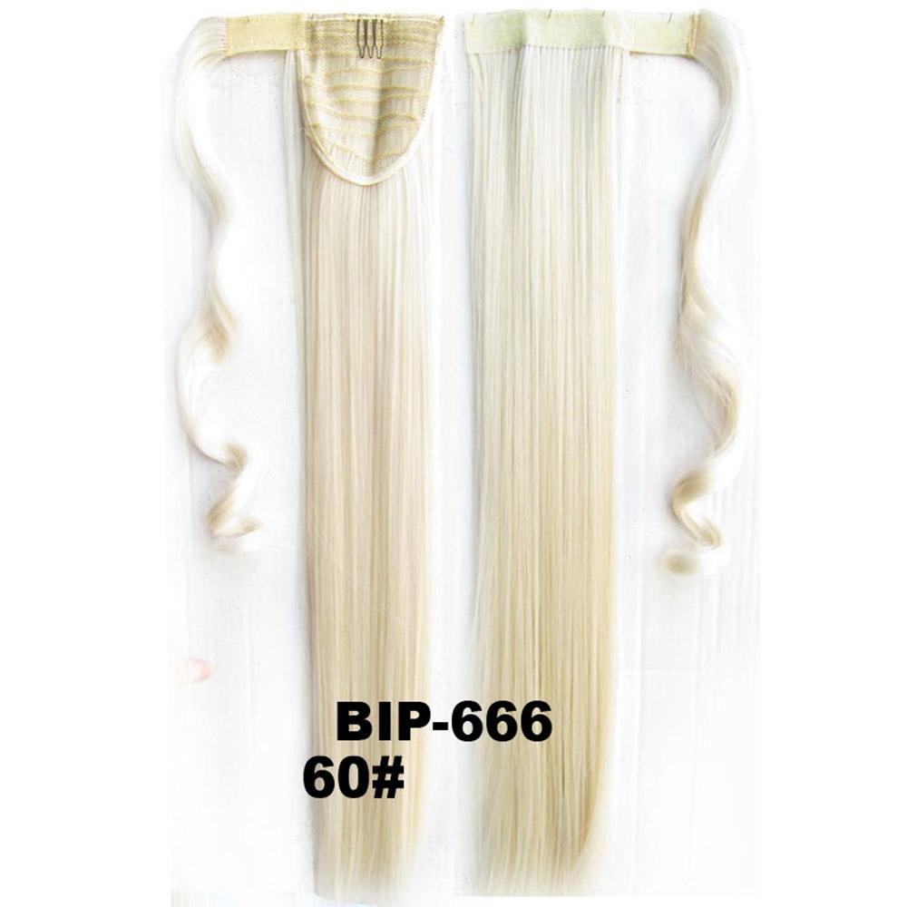 Culík - cop rovný, 57 cm se suchým zipem a omotávkou - 60 (ledová blond)