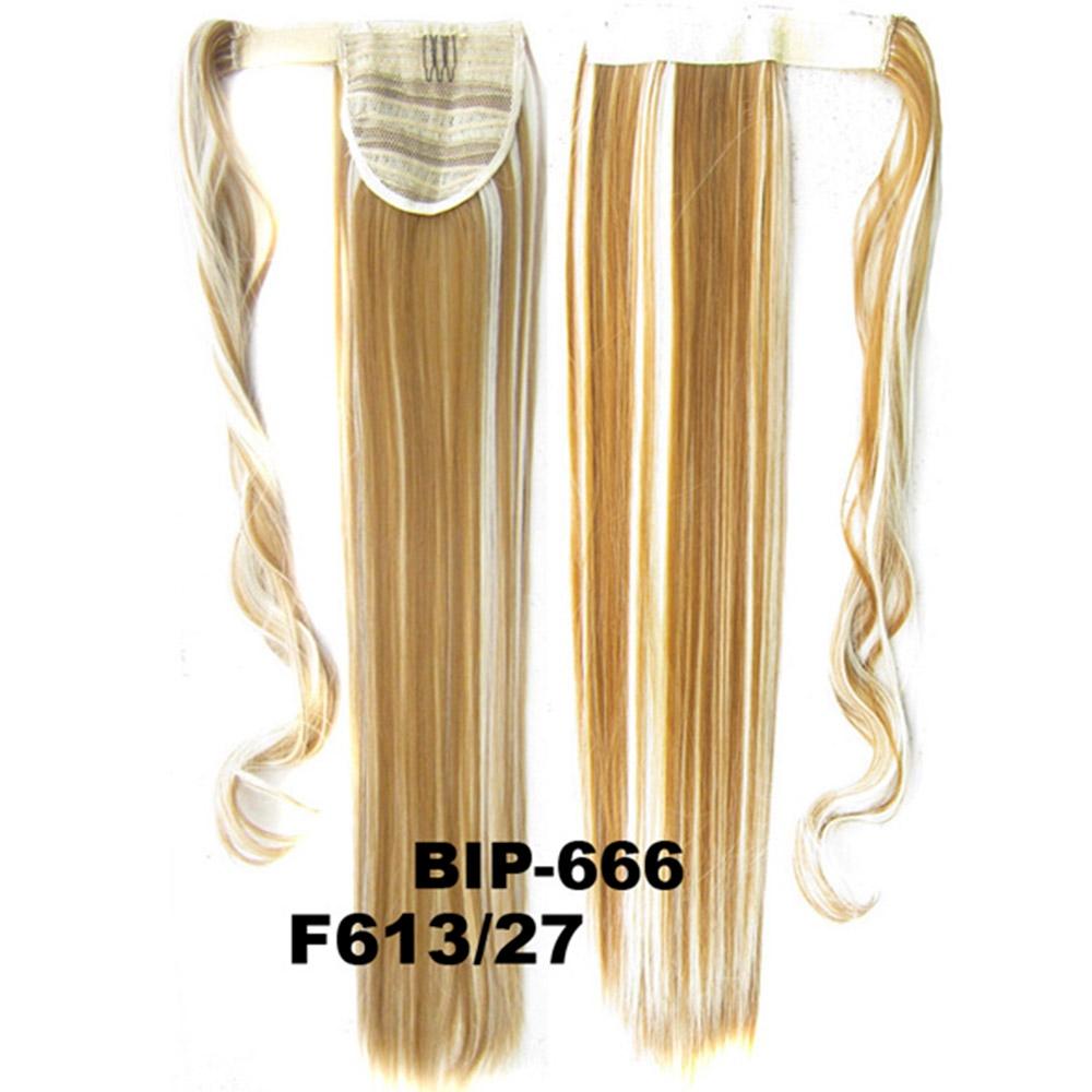 Culík - cop rovný, 57 cm se suchým zipem a omotávkou - F613/27 (melír beach blond v karamelové)