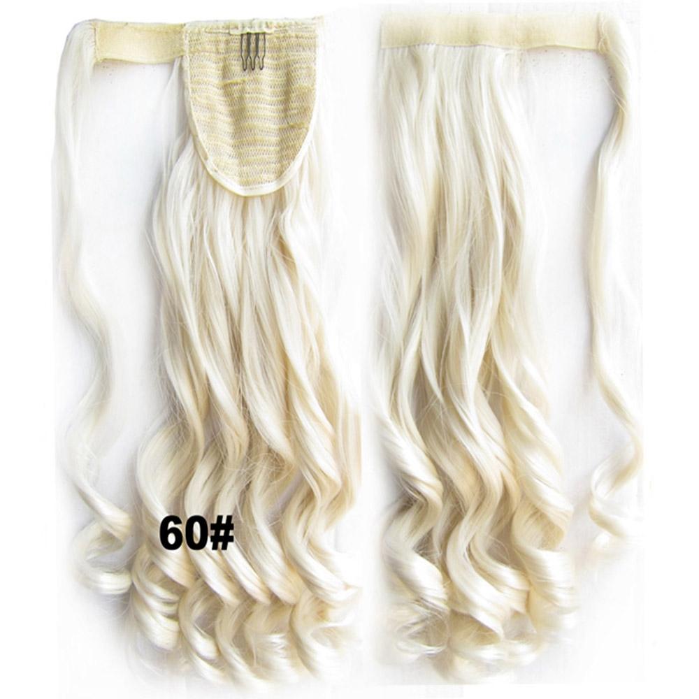 Culík - cop vlnitý, 57 cm se suchým zipem a omotávkou - 60 (ledová blond)